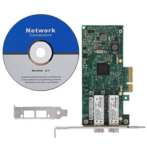 Kafuty Tarjeta de Red Nic de 1000 Puertos con Tarjeta Gigabit LAN de 2 Puertos para Intel I350F2-2SFP PCI-E X4 Soporte IPV4, IPV6.