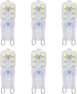 Uonlytech 3W G9 LED Bulb Halogen White Light High Light Energy Saving Bulb 6PCS/Set