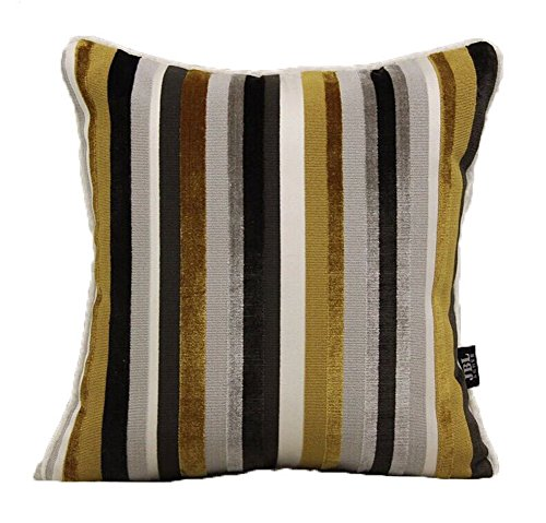 Le coussin High-End moderne Fringe Cut Velvet Sofa et Pillow - Jaune