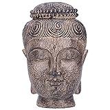 Cabeza de Buda Zen, busto de Buda espiritual portátil, estudio de sala de estar vivo y exquisito para la decoración del hogar de la oficina