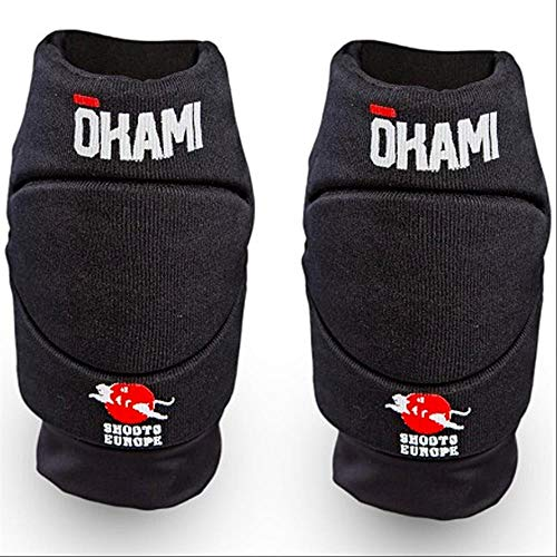 OKAMI Fightgear MMA Hi-Pro Knieschoner - Kniebandagen Knieschützer für Kampfsport MMA BJJ Grappling Muay Thai Kickboxen Bodenkampf (1 Paar)