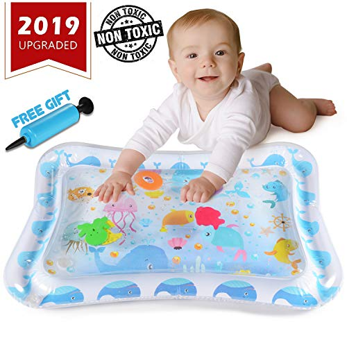 JUOIFIP Baby Water Play Mats Premium Tummy Time Water Mat Inflatable Fun Play Activity Center Mat for Infants /& Toddlers Stimulate Your Babys Growth 26 X20