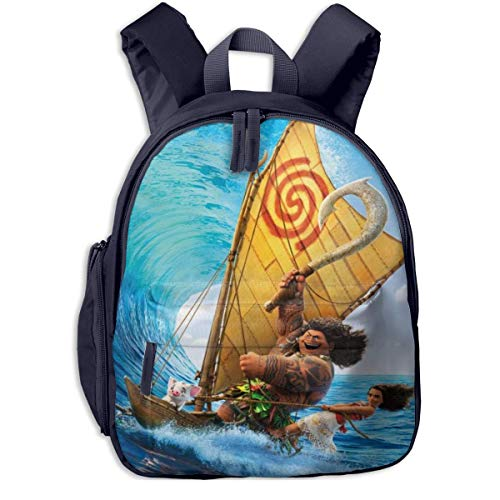 HuangYongHongPODFPO Cartoon Anime Moana Kids Backpacks School Bags for Boys & Girls Pre School Bag Cute Cartoon Backpack Sized for Kindergarten, Preschool