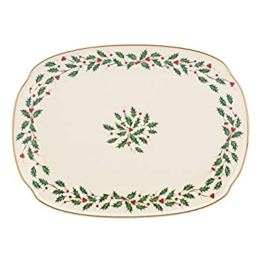 Lenox Holiday Oblong Platter,Ivory,15.25