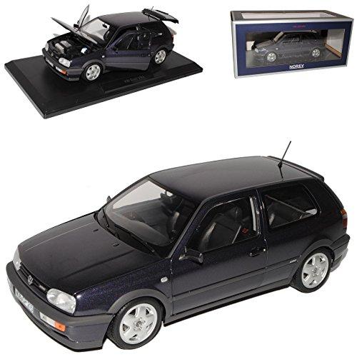 Norev Volkwagen Golf III VR6 Purple Metallic Schwarz 3 Türer 1991-1997 1/18 Modell Auto mit individiuellem Wunschkennzeichen