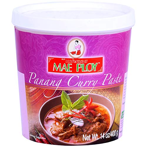 Mae Ploy Panang Curry Paste Authentic Thai Panang Curry Paste for Thai Curries amp Other Dishes Aromatic Blend of Herbs Spices amp Shrimp Paste No MSG 14 oz Tub