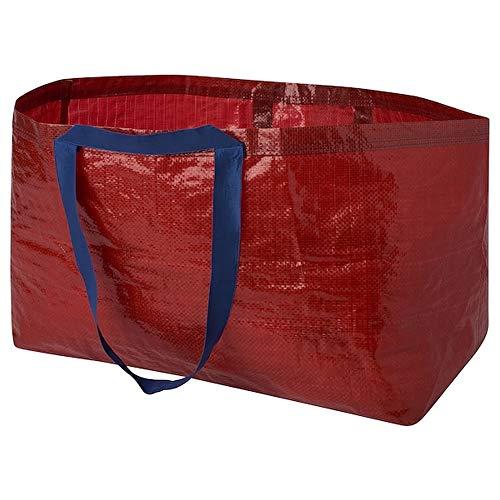 Slukis IKEA Tasche XXL-shopping bag - ideal als Einkaufstasche, Wäschetasche und zur Aufbewahrung - rot-blau - 71 Liter - limited edition