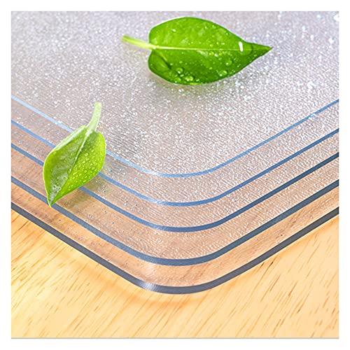 ZWYSL Protector de Mesa Mantel Transparente Almohadilla Protectora Helada Resistente a Rayones Resistencia a Altas Temperaturas Fácil Limpiar Personalizable (Color : Clear-2mm, Size : 100x200cm)