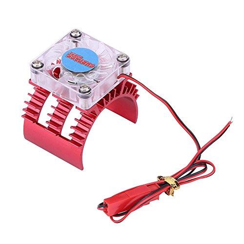 Motorkoeling, 2 kleuren RC Car Cooling koellichaam met ventilator voor 1: 8/1: 10 afstandsbediening auto 540 motor