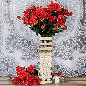 Tableclothsfactory 120 pcs Artificial GARDENIAS Flowers for Wedding Arrangements – Red