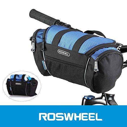 Roswheel 5L borsa da manubrio bici bicicletta tubo della parte anteriore tasca spalla Pack Outdoor sport ciclismo mountain borsa borsa a tracolla