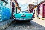 Poster 100 x 70 cm: Oldtimer auf Kuba von Reemt Peters-Hein