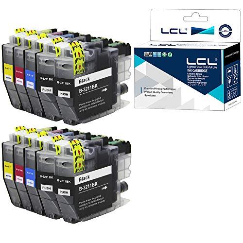 LCL LC3211 LC-3211 LC3211BK LC-3211BK LC-3211C LC-3211M LC-3211Y Cartucho de tinta Compatible para Brother DCP-J770 DCP-J772DW DCP-J774DW MFC-J890DW MFC-J895 MFC-J497DW DCP-J572DW MFC-J491DW(2K+2Sets)