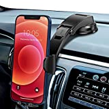 Car Phone Holder Mount, Strong Sticky Gel Suction Cup of Dashboard Phone Holder, Dual Release Button Car Phone Mount, Cell Phone Holder for Car iPhone SE 11 Pro Max XS/R, Galaxy Note 20 S20.