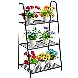 DOEWORKS - Soporte de metal para plantas de 3 niveles, con forma de escalera,...