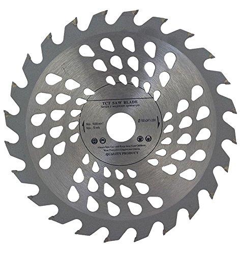 Lama per sega circolare di alta qualità da 160 mm per legno. Dischi circolari di taglio da 160 mm x 20mm, 24denti