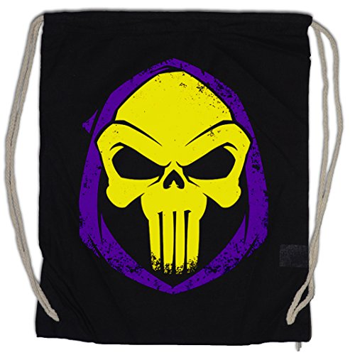Urban Backwoods PUNISHOR Bolsa de Cuerdas con Cordón Gimnasio Skull Punisher Skeletor...