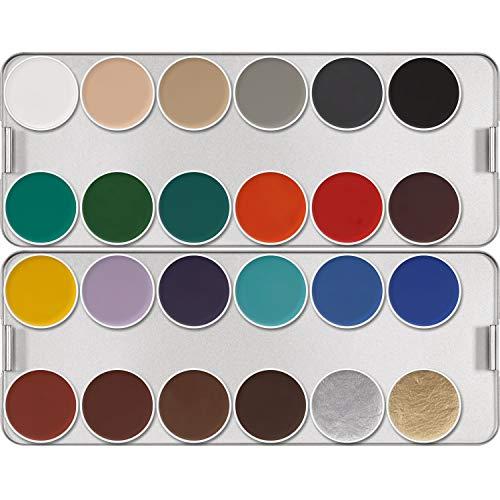 Aquacolor KRYOLAN Maquillage Palette métallique 24 Couleurs