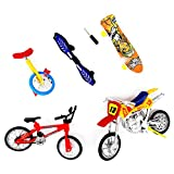 MiSha Finger Fahrrad Spielzeug, Finger Scooter Finger Mountain Bikes Finger Sports Fahrrad-Modell Ornament Educational Finger Spielzeug Miniatures Zubehör