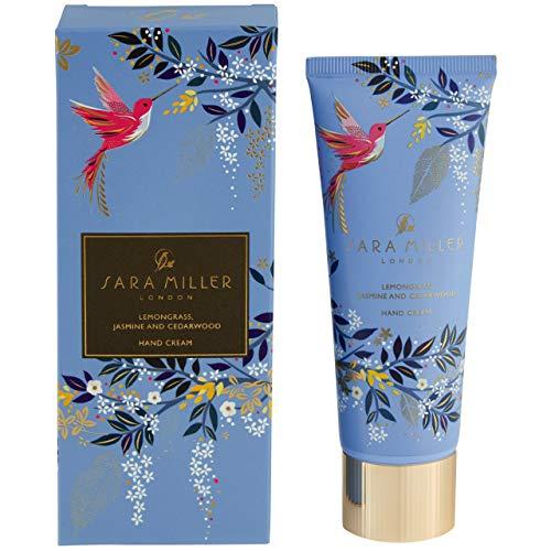 Sara Miller Beauty Everyday Handcreme in Geschenkbox mit Zitronengras, Jasmin und Zedernholz, Blau, 75 ml