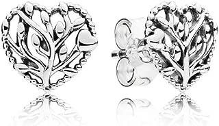pandora flourishing hearts earrings