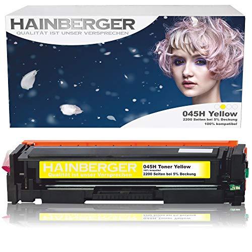 Hainberger Toner Yellow Kompatibel zu Canon 045 045H CRG-045H CRG-045 045HBK für Canon i-sensys MF635cx MF633cdw MF634cdw MF631cn MF632Cdw MF636Cdwt MF631 MF635 MF634 LBP613cdw LBP612cdw LBP611cn