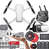 DJI CP.MA.00000123.01 Mavic Mini Quadcopter Drone Fly More Combo (Renewed) With One Year Warranty Bundle with Drone Landing Pad, 64GB Memory Card and VR Viewer