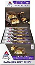 Atkins Endulge Caramel Nut Chew Bars | Keto Friendly Bars | 15 x 34g Low Carb Caramel Chocolate Bars | Low Carb, Low Sugar, High Fibre | 15 Bar Pack