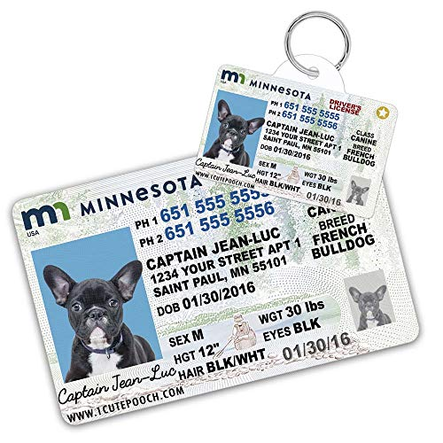 Minnesota Driver License Custom Dog Tag for Pets and Wallet Card - Personalized Pet ID Tags - Dog Tags for Dogs - Dog ID Tag - Personalized Dog ID Tags - Cat ID Tags - Pet ID Tags for Cats