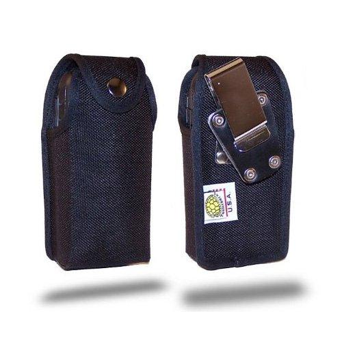 Turtleback Ausgestattet Fall Made für Sonim XP Handy Schwarz Nylon (Heavy Duty Abnehmbaren Gürtelclip aus Metall Made in USA
