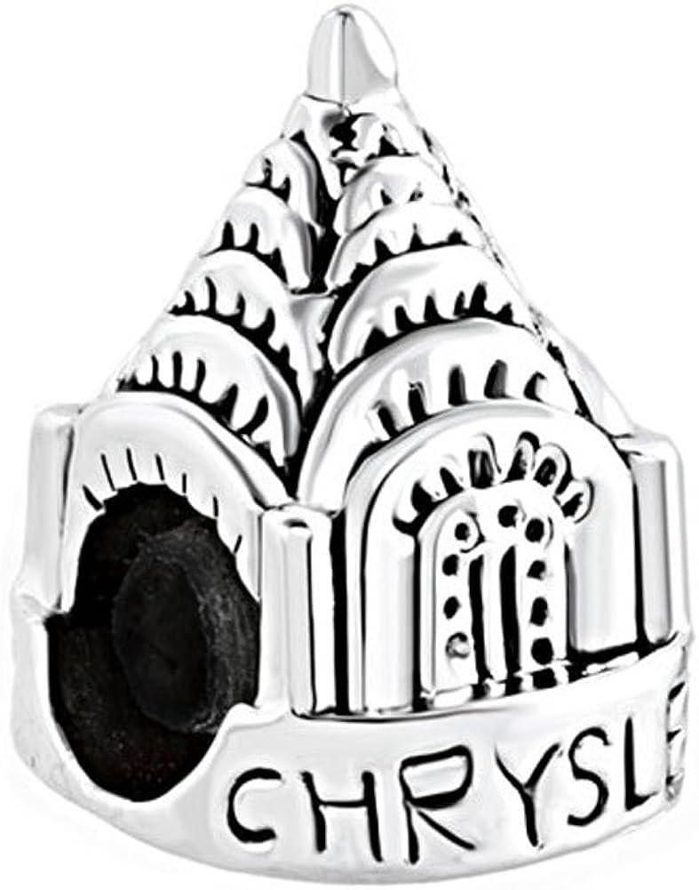 LovelyJewelry Travel Charms York Chrysler Building Beads for Bracelets