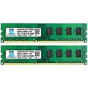 Motoeagle 8GB Kit (2x4GB) PC3 12800U Desktop Memory DDR3 1600 MHz UDIMM 2RX8 Dual Rank Non ECC Unbuffered 1.5V Dual Rank RAM Upgrade Sticks