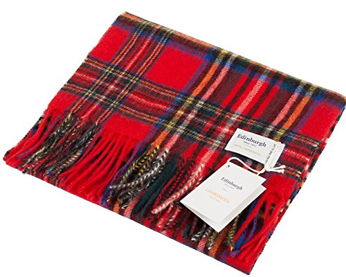 I Luv Ltd Unisex Lambswool Scarf In Royal Stewart Double Scale Tartan Design 30cm Wide