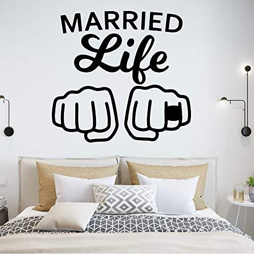 Buntes Eheleben Wasserdichte Wandaufkleber Wohnkultur für Kinderzimmer Vinyl Art Decal-in Wandaufkleber von Home & Garden 43cm x 69cm