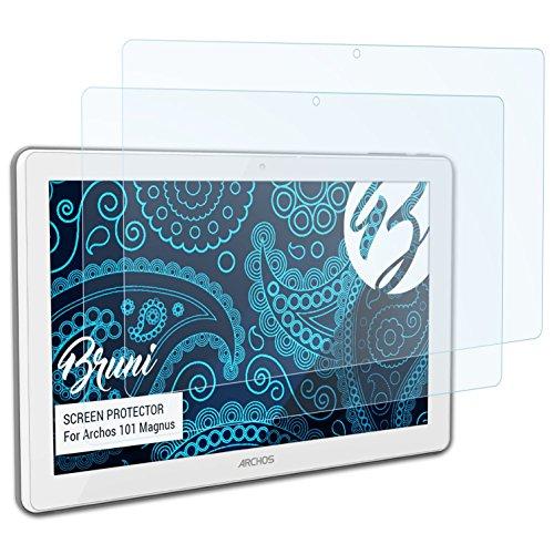 Bruni Schutzfolie kompatibel mit Archos 101 Magnus Folie, glasklare Bildschirmschutzfolie (2X)