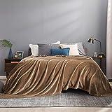 BEDSURE Decke Sofa Kuscheldecke Camel - XXL Fleecedecke für Couch weich und warm, Wohndecke flauschig 220x240 cm als Sofadecke Couchdecke