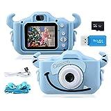 """Kinder Kamera, 2.0""""Display 1080P HD 20MP Digitalkamera für 4-14 Jahre alt mädchen und jungen, Anti-Drop Fotoapparat Kinder für Geburtstagsspielzeug Geschenke mit Weiche Silikonhülle und 32GB SD Karte"""