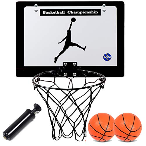 AUTENS Mini Canasta de Baloncesto Interior para Niños y Adultos, Tablero de Basket para Colgar en...