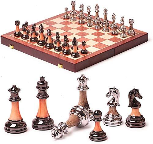 Conjuntos de tableros de ajedrez Conjunto de ajedrez Regalo de alto grado Regalo Internacional Travel Ajedrez juego Molde plegable Doblado de madera y piezas de ajedrez Chessman Casual Puzzle Party yq
