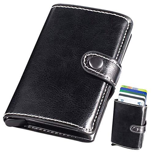 ☻ Privacidad y Seguridad: Bloqueo de tarjeta de crédito bloqueando la protección de todos los escáneres y lectores RFID, incluye tecnología de bloqueo RFID para evitar el acceso no autorizado a información personal, protege sus tarjetas de crédito RF...
