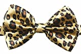 Outer Rebel Fashion Pre-Tied Animal Print Bow Ties In Multiple Colors And Styles (One Size, Leopard)