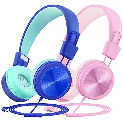 Kids Headphones(2-Pack), Children Headphones for Kids child Girl Boy with...