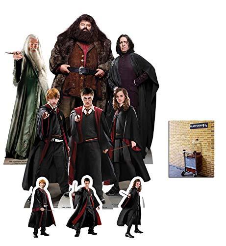 BundleZ-4-FanZ Harry Potter Offiziell Pappaufsteller Party Packung mit 9 Stück (beinhaltet Harry, Ron, Hermione, Dumbledore, Hagrid and Professor Snape) Enthält 6X4 (15X10cm) starfoto