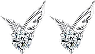 Underleaf Cute Frauen Angel Wings Shape Strass Ohrstecker Ohrringe Charm Schmuck