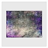 Yousiju Purple Star Sky Alfombra de Sala de Estar Moderna Dormitorio de niña Alfombra de decoración Junto a la Alfombra con Estrellas Alfombras de Cocina Alfombra de Pasillo (Size : 80x120cm)