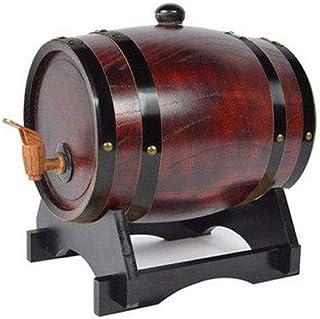 Tonneau à vin en bois Fût de chêne vieilli, Bois vintage Tonneau de chêne Seau à whisky Avec robinet, Peut être utilisé po...