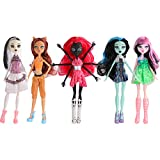 ONEST 5 Sets 11 Inch Monster Girl Dolls Include 5 Pieces Girl Monster Dolls, 5 Pieces Handmade Doll Clothes, 5 Pairs of Doll Shoes
