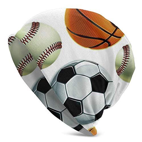 AEMAPE Béisbol Fútbol Baloncesto Gorro de Punto para Hombres Adultos - Beanie Hat Sombreros Unisex, Gorra, pasamontañas, Medio pasamontañas