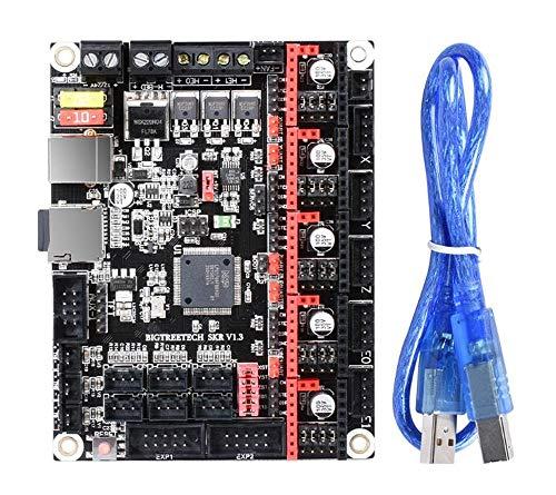 ChenYongPing Función Placa Base de Impresora 3D, Kit de Impresora 3D con la Junta de Control V1.3 32 bits CPU Arm de 32 bits Placa Base Smoothieboard for la Impresora 3D de Piezas Reprap