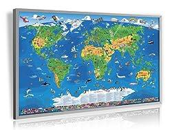 Pinnwand Weltkarte